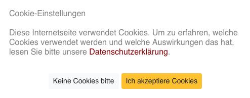 Cookies-Fenster